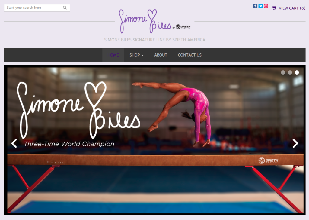 Screen shot from www.spiethamerica.com of three-time world champion and Olympic hopeful Simone Biles performing a back handspring during a shoot with lifestyle photographer Nathan Lindstrom in Houston, TX.