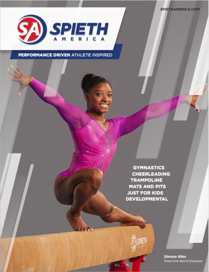 Spieth America 2016 catalog cover of three-time world champion and Olympic hopeful Simone Biles during a photo shoot with portrait photographer Nathan Lindstrom in Houston, TX.